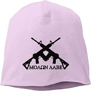 Runningway Unisex Molon Labe MA-16 Gun Outdoor Trendy Skull Cap Beanie Hat