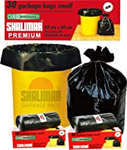 Shalimar Premium OXO - Biodegradable Garbage Bags (Small) Size 43 cm x 50 cm  (30 Bags) (Black Colour)