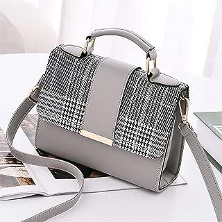 Vioaplem Fashion Leather Look Top Handle Satchel Shoulder Frame Messenger Corssbody Bag for Women (Color : Grey)