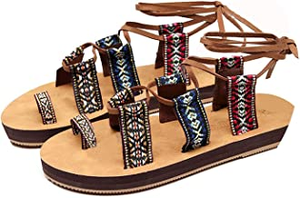 Women Summer Straps Bottom Retro Beach Strap Shoes Ladies Fisherman Bohemia Sandals