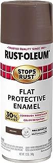 Rust-Oleum 338947 Stops Rust Advanced Spray Paint, 12-Ounce, Flat Brown