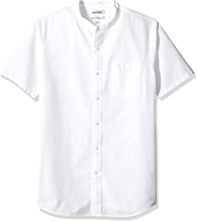 Amazon Brand - Goodthreads Men's Standard-Fit Short-Sleeve Band-Collar Oxford Shirt