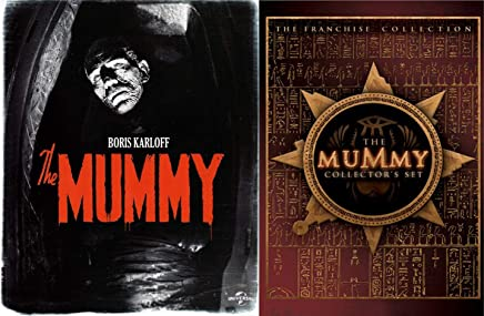 The Wrapped Dead Man Boris Karloff Mummy Original Universal Monster + Franchise Collection 1/2/3 Mummy Trilogy / Returns / Scorpion King Brendan Fraser DVD set