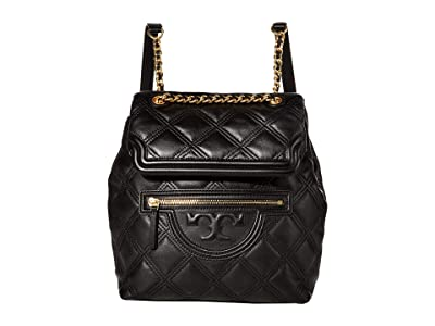 Tory Burch Fleming Soft Backpack (Black) Backpack Bags