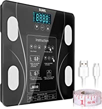 Scales for Body Weight,Bathroom Body Fat Scale, Smart Health Keeping 15 Composition Scientific Weight Losing Accurate Scale 10 Users for Protein,Water, BMI, BMR, Bone Muscle Mass and Calorie 396 lbs