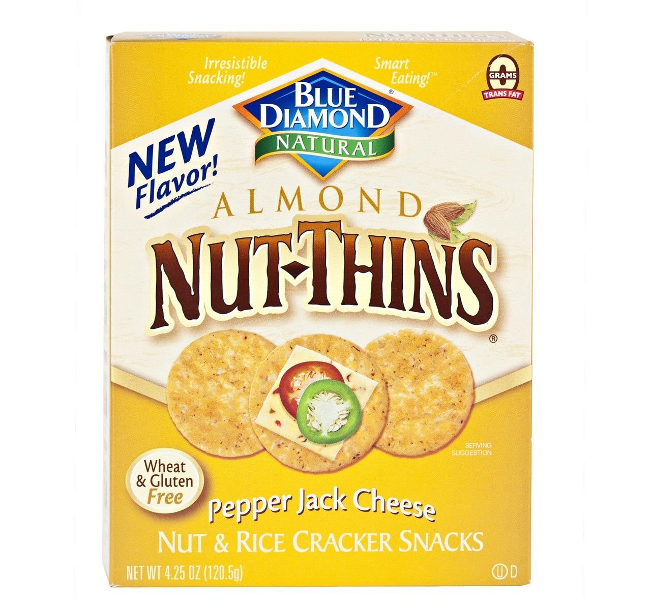 Gluten Ranking TOP18 Free Courier shipping free Almond Nut-Thins Cracker Pepper Jack Cheese Snacks