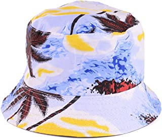 BYOS Packable Reversible Black Printed Fisherman Bucket Sun Hat, Many Patterns