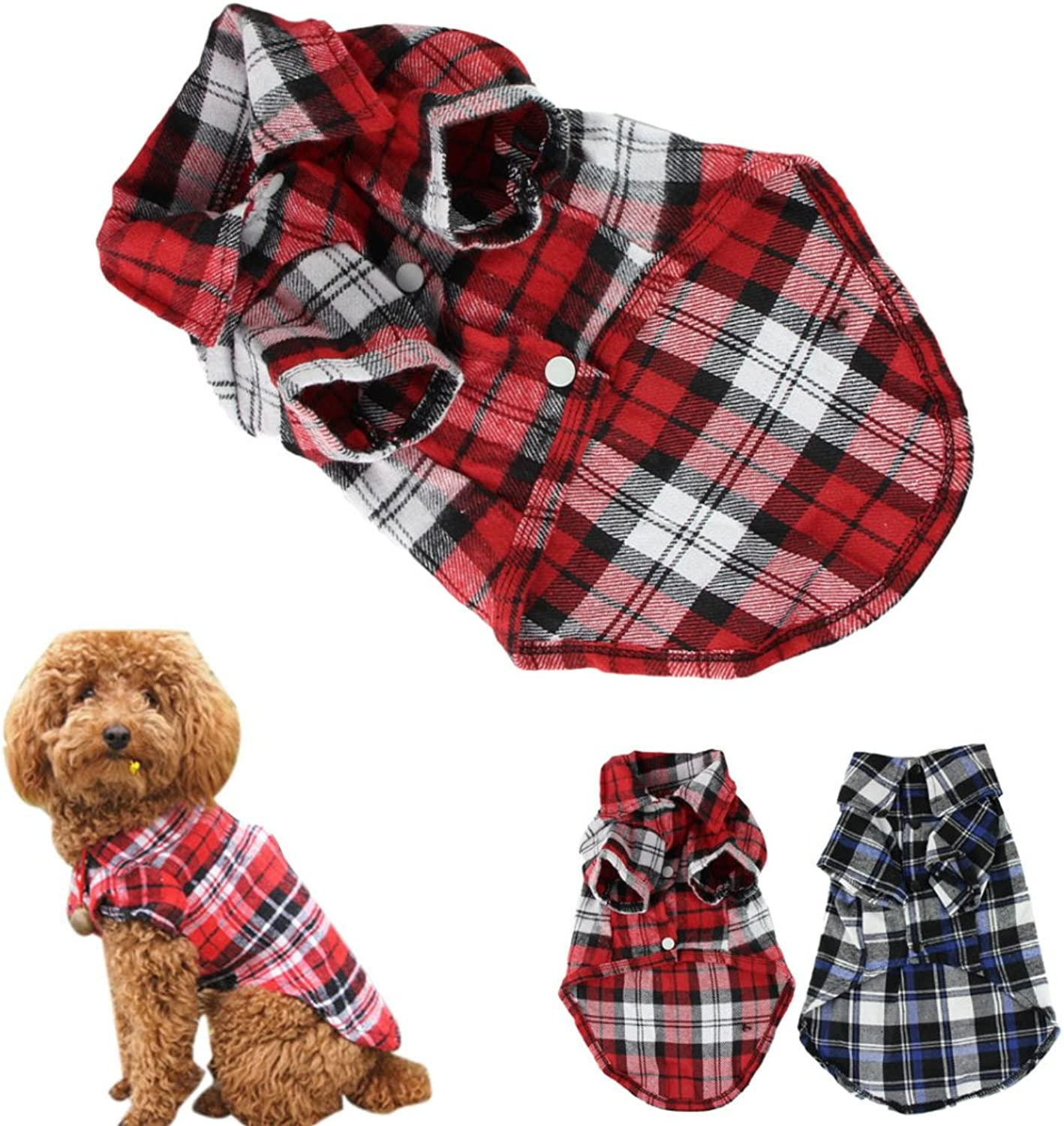 CXB1983(TM)Cute Pet Dog Puppy Clothes Shirt Size XS S M L bluee Red color (XS, Red) by CXB1983(TM)