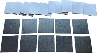 10 stuks metalen plaatjes incl. 2 mm zelfklevende pads – plak stalen plaatjes voor magneten/houders & werkplaats – 25 x 25...