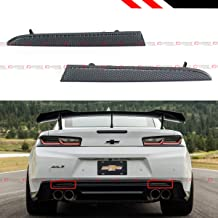 Fits for 2016-2019 Chevy Camaro LT SS ZL1 Smoke Lens Rear Bumper Diffuser Reflector - Pair