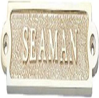 "Hampton Nautical Solid Brass Seaman Sign, 4"", Brass"