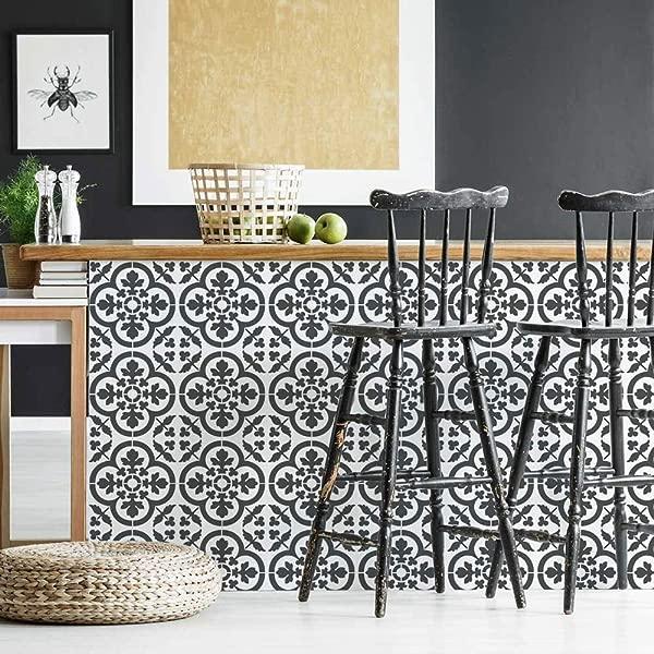 Felicity Tile Stencil Cement Tile Stencils DIY Faux French Tiles Reusable Stencils For Home Decor Large