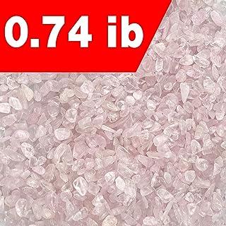 """SNAKTOPIA Rose Quartz Tumbled Chips Stone,Crushed Crystal Quartz Pieces,Irregular Shaped Stones 0.74 ib (Rose Quartz(0.2-0.5""""))"""