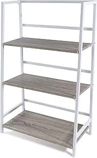 Atlantic 3 Tier Folding Shelf - Sturdy Tubular Design, Folds for Easy Storage PN3845036 in White