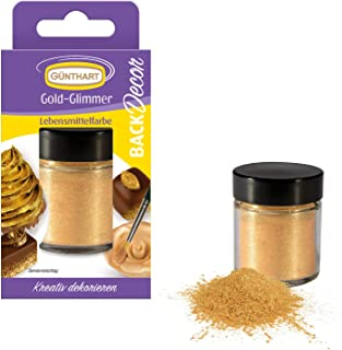 BackDecor Lebensmittelfarbpuder Gold | Essbares GOLD Puder | Lebensmittelfarbpuder | Gold Glitzer