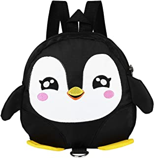 Fdit Socialme-EU Mochila de Pingüino de Dibujos Animados Lindo Bebé Arnés de Seguridad Mochila Toddler Anti-Perdido Bolsa Mochila Escuela para Niños(Negro)