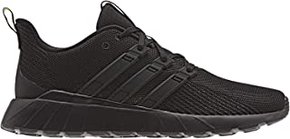 adidas QUESTAR FLOW Men's Running Shoes, Core Black/ Orange, 8.5 US
