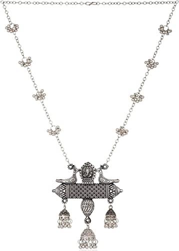 Total Fashion Afghani Oxidised German Silver Jewellery Stylish Antique Designer Chain Pendant Necklace Set for Women ...