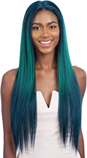 FreeTress Equal Synthetic Colorful Hair Lace Front Wig Premium Delux Water Color Evlyn (MERMAID)