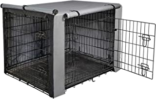 """yotache Dog Crate Cover for 36"""" Medium Double Door Wire Dog Cage, Lightweight 600D Polyester Indoor/Outdoor Durable Waterp..."""