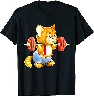 Cute Cat Gym Squat Powerlifting T-Shirt