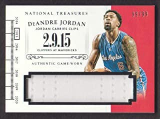 2014-15 Panini National Treasures Basketball Timelines #T-DJ DeAndre Jordan Jersey 99/99 Los Angeles Clippers