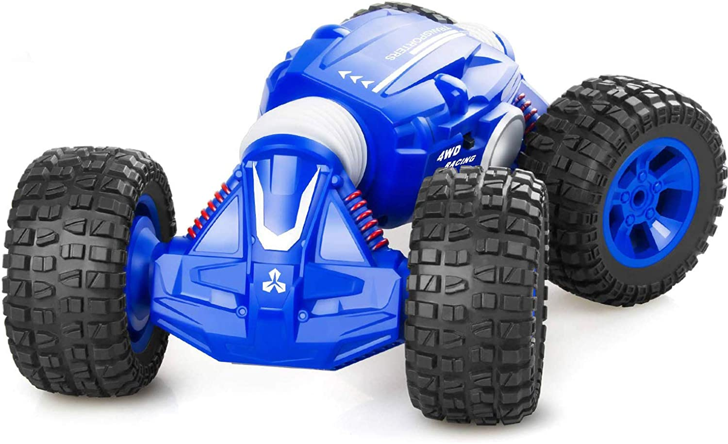 SODIAL Remote Control Car, Rc Cars with 2.4Ghz, 4WD Off Road Monster Truck for Boys & Girls, 1 16 Scale Fast Speed Deformation Stunt Car