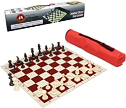 Wholesale Chess Archer Chess Set Combo - Red Chess Board & Bag