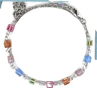 Bertof (0 7/18) Rosary Bracelet Swarovski Crystal 4mm Cube Beads SKIBRAC W Copyrighted Paul Herbert Blessing