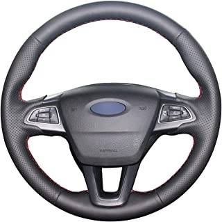 DIY Coprivolante per auto pelle bovina su misura per Focus 2 2005-2010 3-Spoke Car accessories