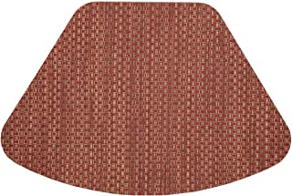 Sweet Pea Linens Set of 2 Redwood (Brick & Tan) Wipe Clean Wedge-Shaped Placemats for Round Tables