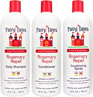 Fairy Tales Rosemary Repel Daily Kids Shampoo, Cream Conditioner & Conditioning Lice..