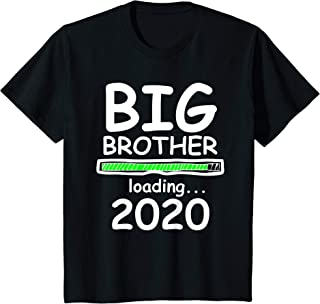 Kids Big Brother Loading 2020 Baby Announcement Toddler T Shirt