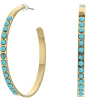 Rebecca Minkoff - Beaded Hoop Earrings