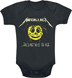 Metallica and Just Nice to All Babygrow Unisex Body schwarz Band-Merch, Bands