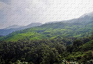The Evergreen Tea Plantations Munnar Kerala India 500 Piece Jigsaw Puzzle 20.6 X 15.1'' Wooden Puzzle Handmade Difficult Developing Intelligence Games
