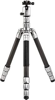"MeFOTO Globetrotter S 61.6"" Carbon Fiber Travel Tripod/Monopod w/Case, Twist Locks, Dual Action Ballhead w/Arca Swiss Plate for Mirrorless/DSLR Sony Nikon Canon Fuji - Titanium (GTSCTTN)"