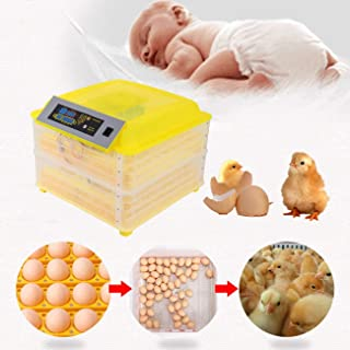 Ridgeyard Egg Incubator Automatic 112 Egg Digital Incubators Turning Chicken Built-in LED Candler Hatching Eggs Hatcher for Chicken Ducks Goose Poultry Pigeon Quail
