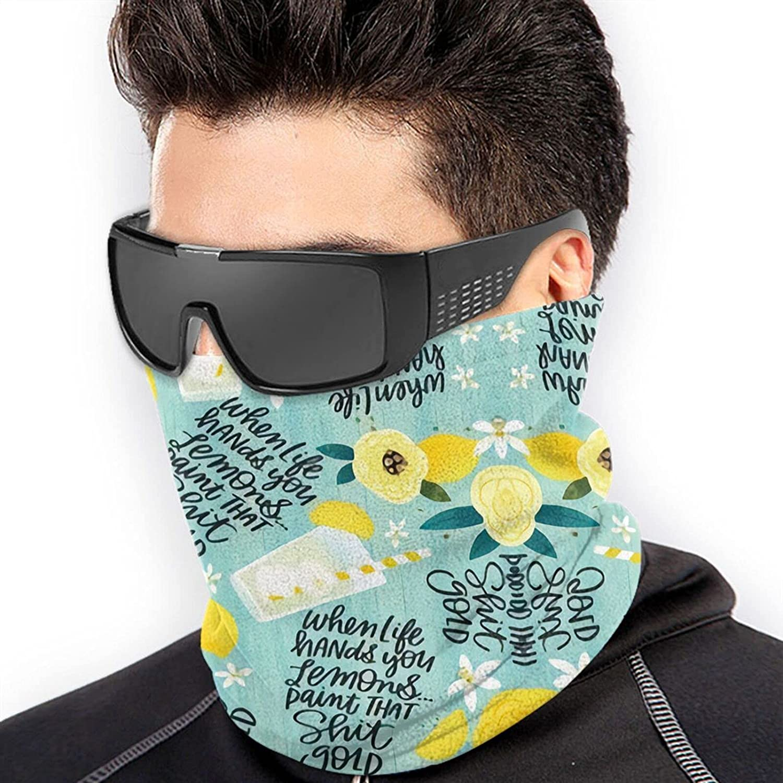 Whenife Gives Youemons Paint Thathit Gold Bandanas Neck Gaiter Face Mask Scarf Face Shield