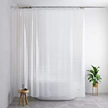 Docamor Shower Curtain Liner, Waterproof Shower Curtain 71x79in 0.2 MM 100 Percent EVA Bath Curtain 3D Cat's Eye, More Safe, Shower Liner with 12 Curtain Hooks