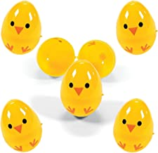 Set of 72 Chicks Plastic Easter Eggs, Assorted Colors