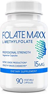 FolateMaxx L-Methylfolate 15 mg 90 Capsules Active Folate Non-GMO Methyl Folate, 5-MTHF