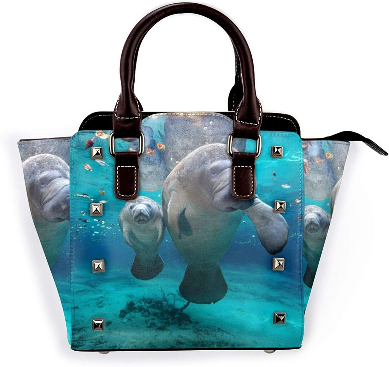 Ladies OFFicial mail order Leather Rivet Shoulder Bag M Outlet SALE West Manateeshandbag Indian
