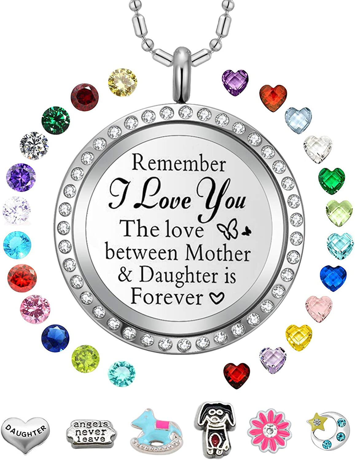 Max 51% OFF AZNECK Best Inspirational Special price for a limited time Floating Locket Gifts Necklace Charms