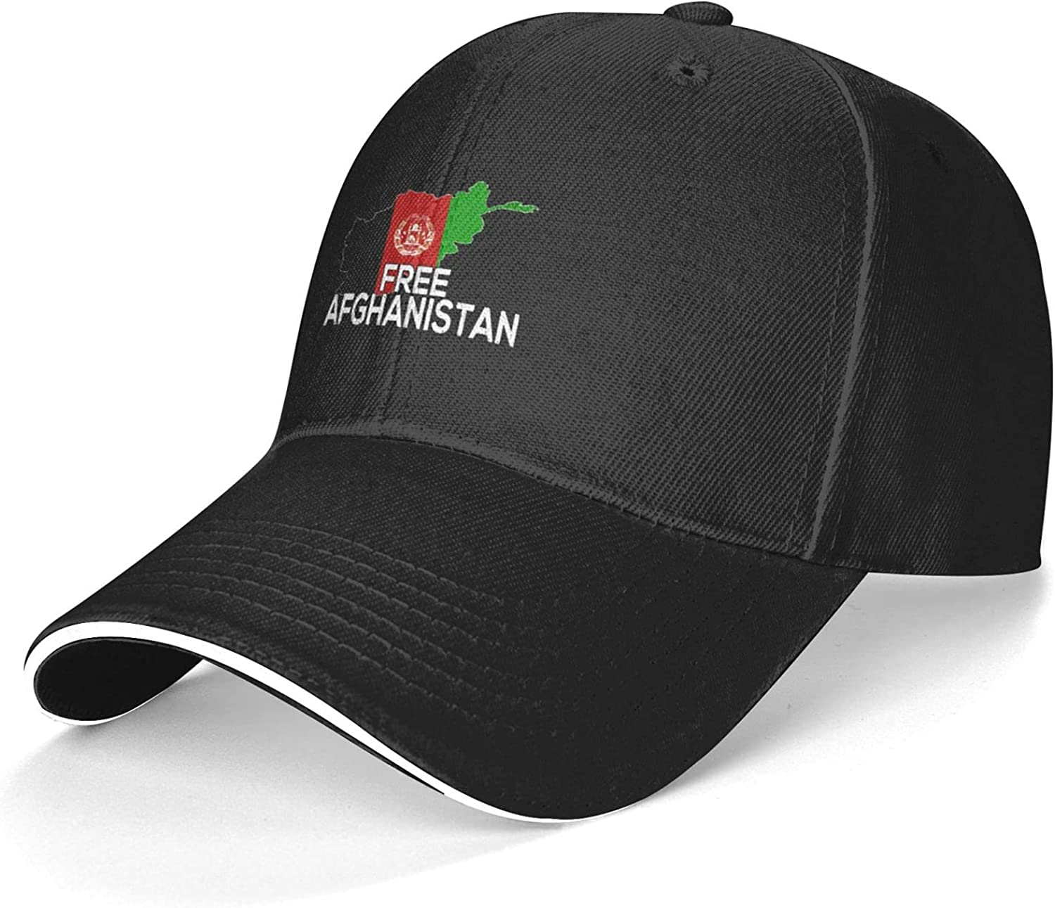LOUMIJEI Baseball Casquette,Outdoor Adjustable Cap ,Hiking Protection Hat Afghanistan Flag & Map