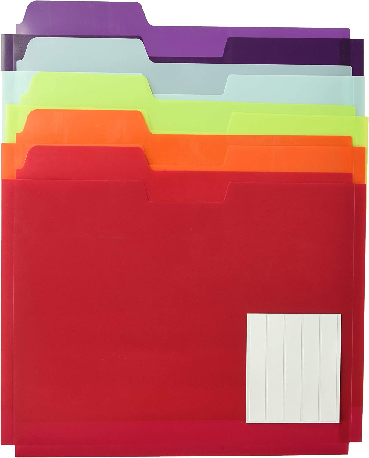 Globe-Weis Fort Worth Complete Free Shipping Mall Poly File Folder Pockets Letter Assorted Size Color