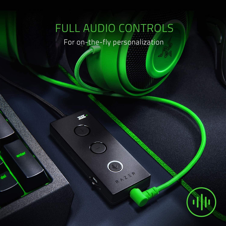 Razer Kraken Tournament Edition - Black Wired Gaming Headset with USB Audio Controller 7