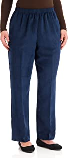 Alfred Dunner Classics Elastic Waist Pants Navy 20W M