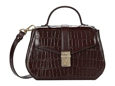 Brahmin Brava Annabeth Crossbody (Chocolate) Handbags