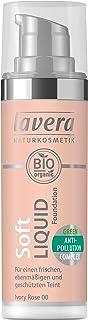 lavera Soft Liquid Foundation -Ivory Rose 00- Base de maquillaje ∙ Fórmula líquida ∙ Natural tono de piel ∙ Vegan ✔ Cosmét...